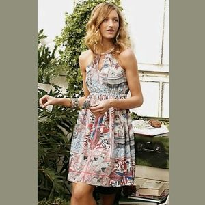 Floreat Anthropologie RARE Castle Lake Ships Dress